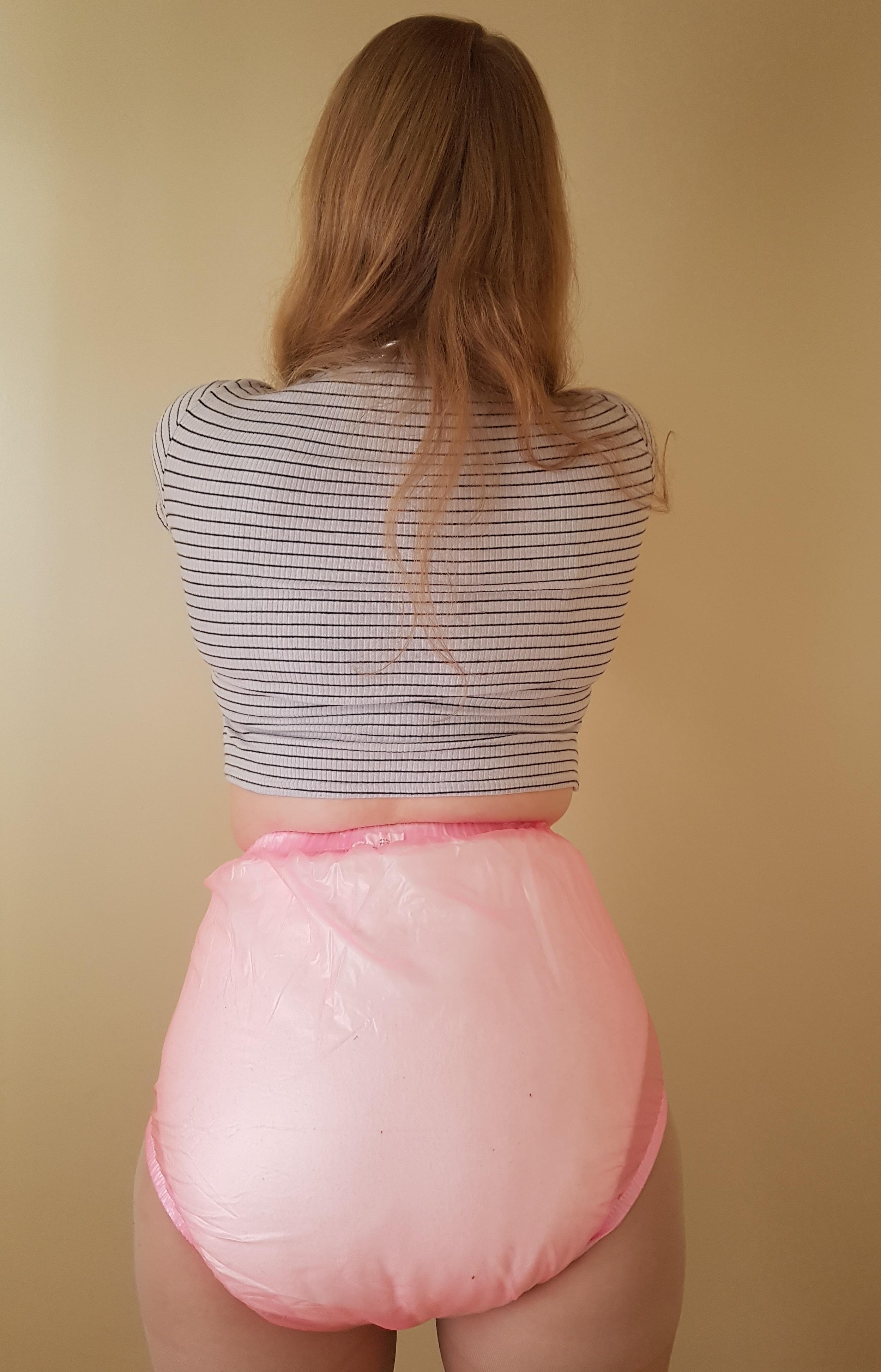 women in plastic pants pictures