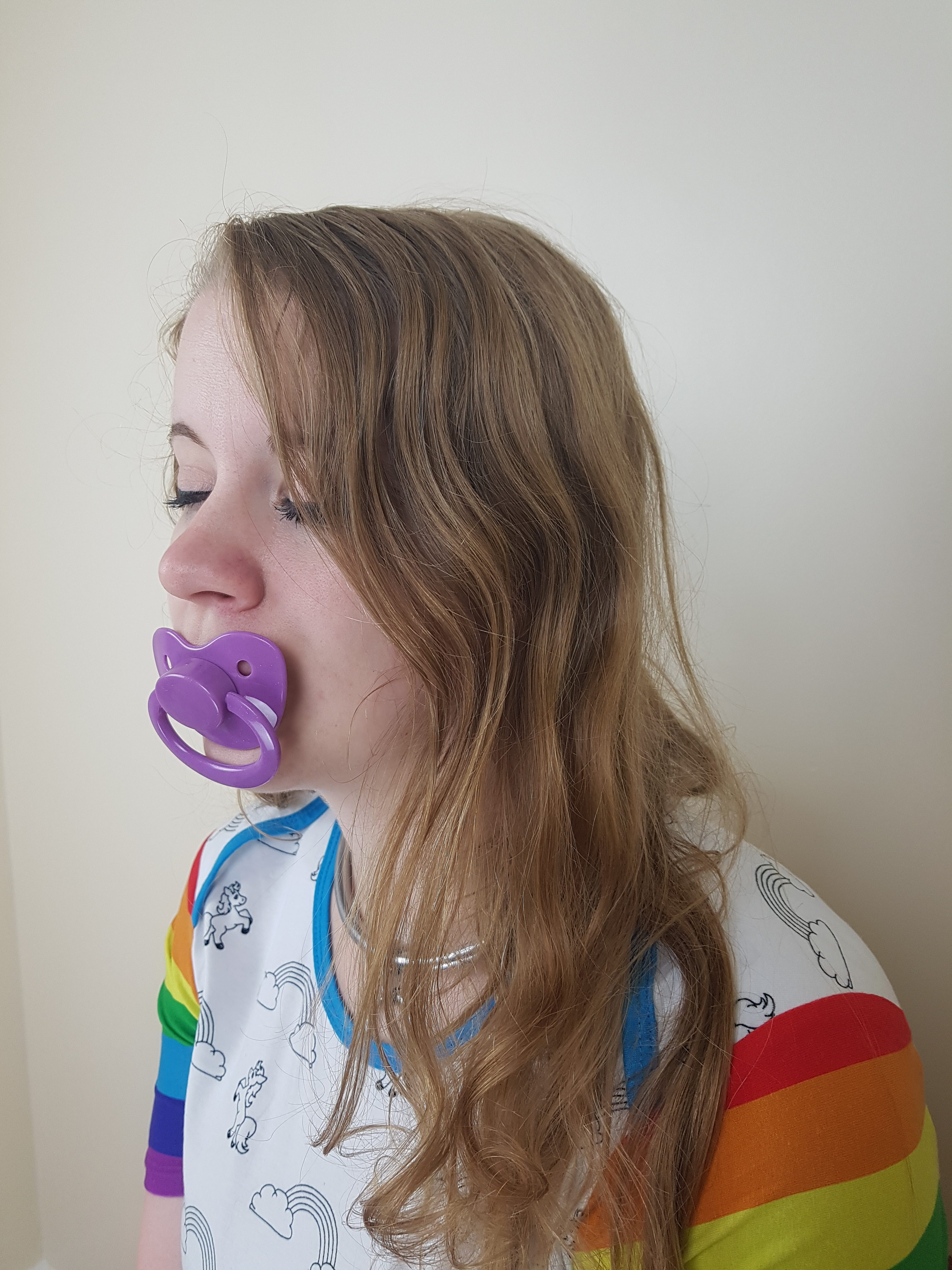 Sparkling Deep Purple Pacifier The Dotty Diaper Company